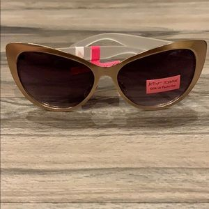 Betsey Johnson rose gold cat eye sunglasses